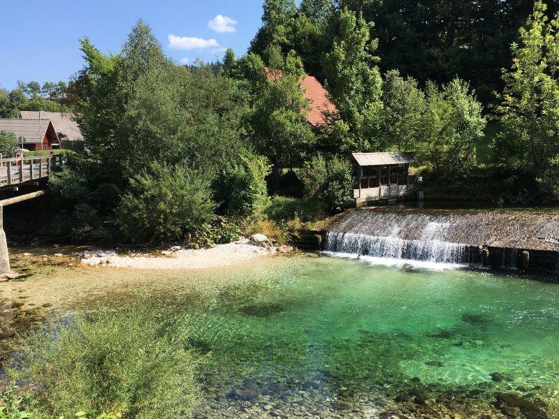 Fiume dalle acque cristalline in Slovenia
