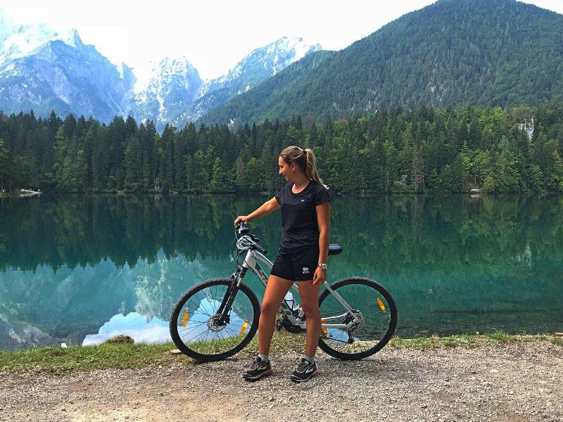 laghi di fusine in bicicletta da tarvisio