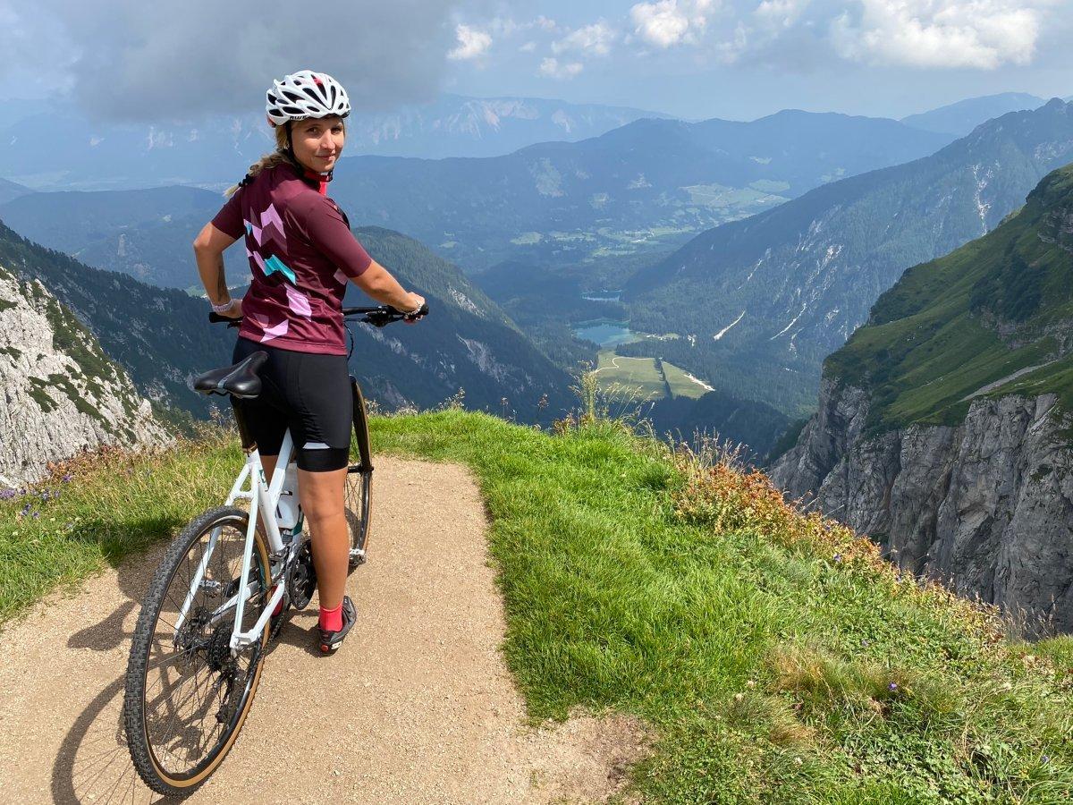 monte mangart panorama in bicicletta