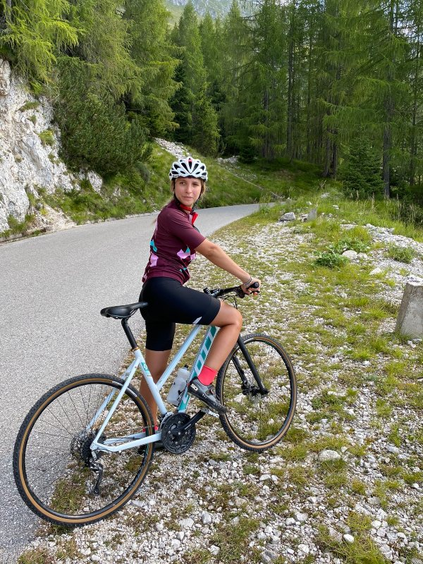 In bicicletta sul Mangart