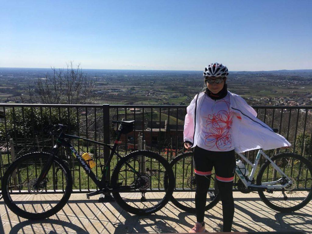 Vista da Rugolo in bicicletta