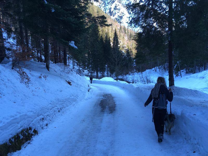 La strada che porta in val Bartolo