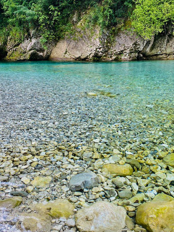 Acque limpide del torrente Arzino