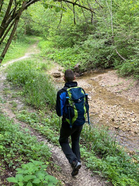 Passeggiando lungo il sentiero a Pinzano