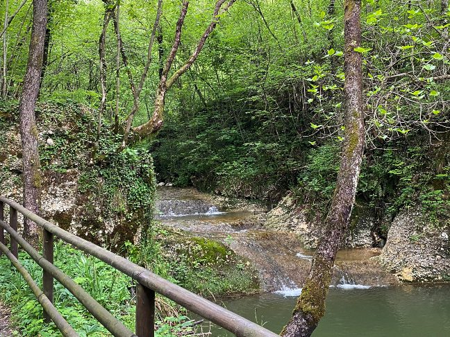 Vista sul Rio Bearzi a Pinzano